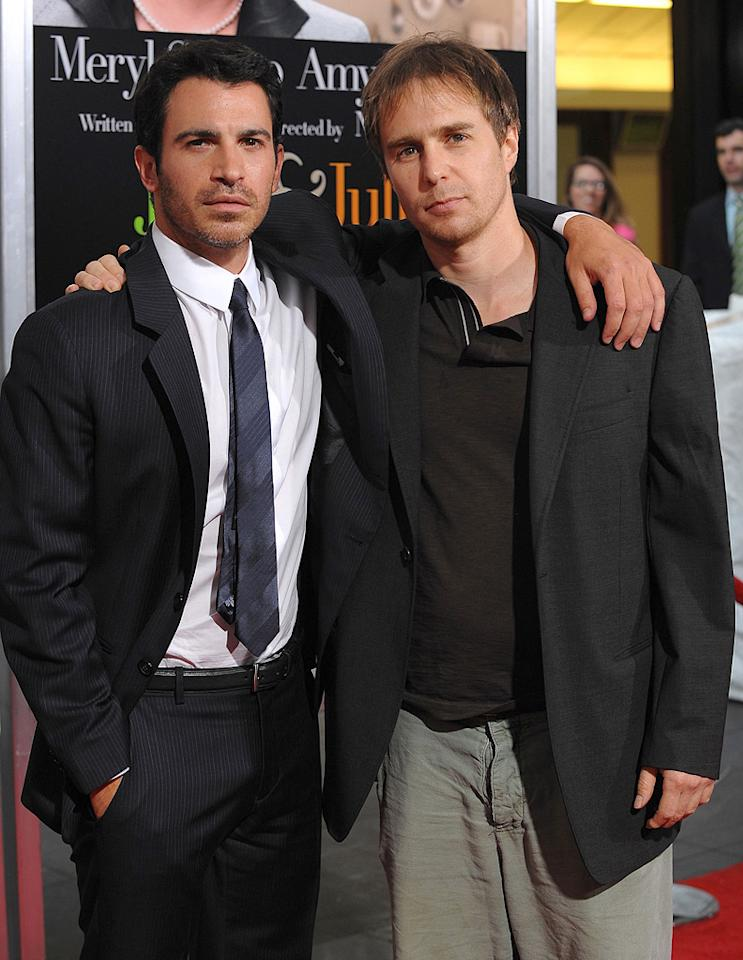 """<a href=""""http://movies.yahoo.com/movie/contributor/1807530929"""">Chris Messina</a> and <a href=""""http://movies.yahoo.com/movie/contributor/1800021961"""">Sam Rockwell</a> at the New York premiere of <a href=""""http://movies.yahoo.com/movie/1810006886/info"""">Julie & Julia</a> - 07/30/2009"""