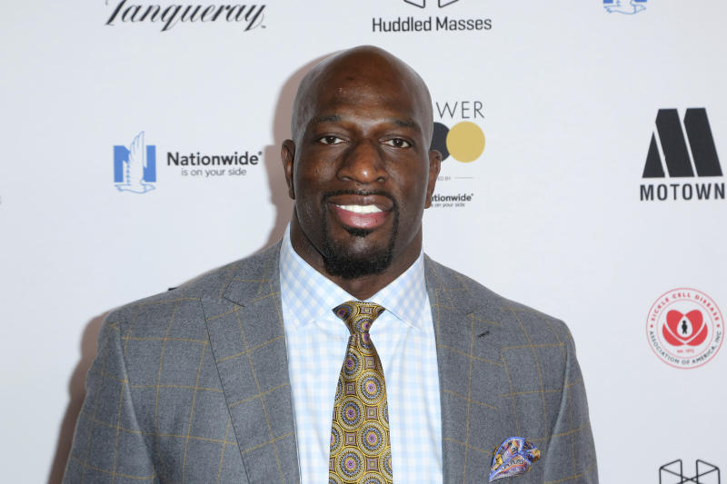 Titus O'Neil arrives at the 2018 EBONY Power 100 Gala at the Beverly Hilton on Friday, Nov. 30, 2018, in Beverly Hills, Calif. (Photo by Willy Sanjuan/Invision/AP)