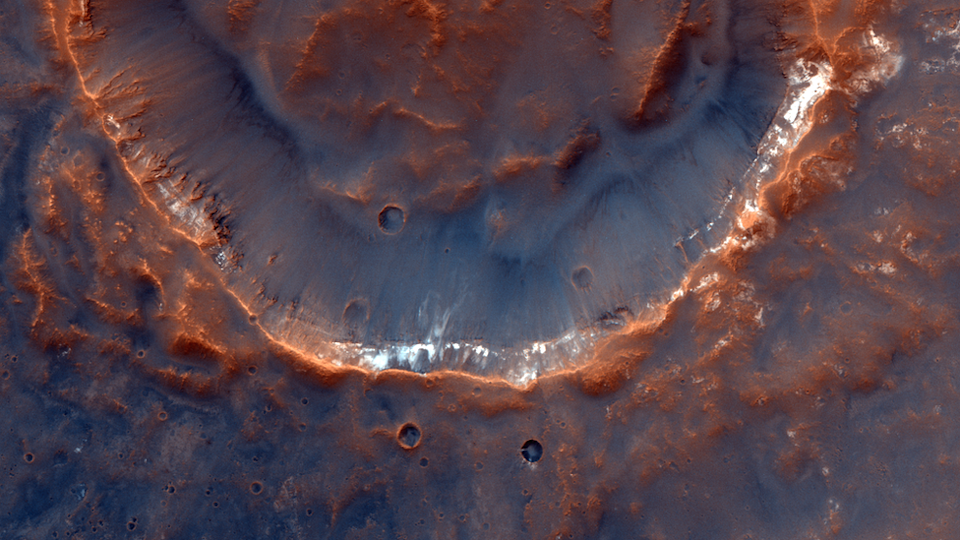 Unnamed crater located in Mawrth Vallis