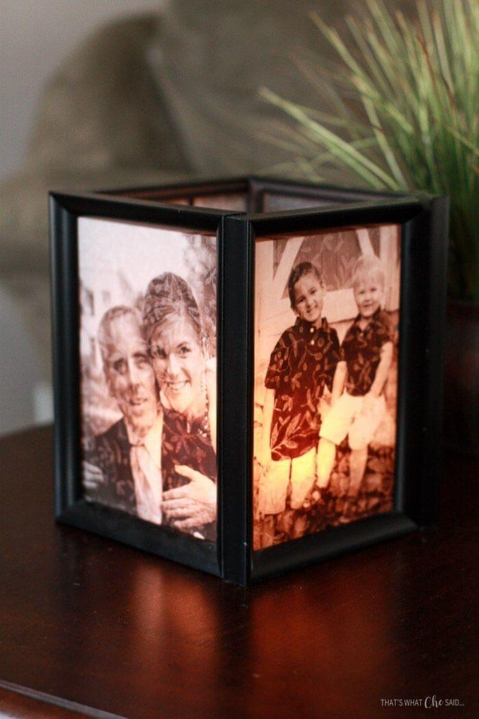 """<p>Light up someone's Christmas with this personalized luminary. </p><p><strong>Get the tutorial at <a href=""""https://www.thatswhatchesaid.net/picture-frame-luminaries/"""" rel=""""nofollow noopener"""" target=""""_blank"""" data-ylk=""""slk:That's What Che Said"""" class=""""link rapid-noclick-resp"""">That's What Che Said</a>. </strong></p><p><strong><a class=""""link rapid-noclick-resp"""" href=""""https://go.redirectingat.com?id=74968X1596630&url=https%3A%2F%2Fwww.dollartree.com%2Fspecial-moments-contemporary-matted-black-plastic-photo-frames-5x7in%2F225481&sref=https%3A%2F%2Fwww.countryliving.com%2Fdiy-crafts%2Ftips%2Fg645%2Fcrafty-christmas-presents-ideas%2F"""" rel=""""nofollow noopener"""" target=""""_blank"""" data-ylk=""""slk:SHOP FRAMES"""">SHOP FRAMES</a><br></strong></p>"""