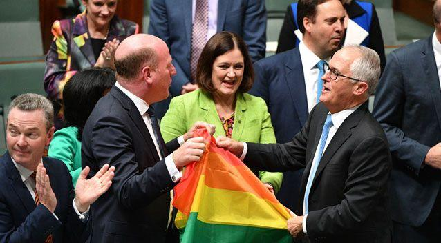 There was celebration in the chamber as the new laws cleared parliament unchanged. Photo: Getty