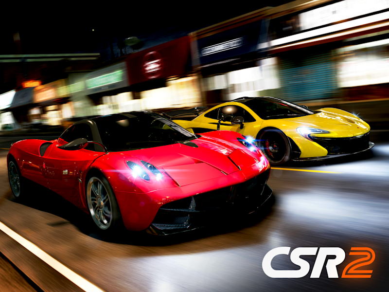 Two sportscars race as the cover art for Zynga's