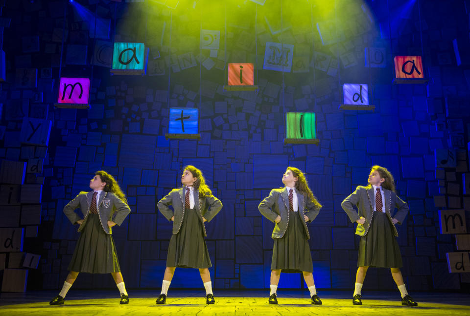 The Royal Shakespeare Company's production of Matilda the Musical in Melbourne, Australia. (Credit: Getty)