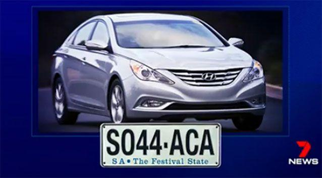 The pair escaped in a car like this. Image: 7 News