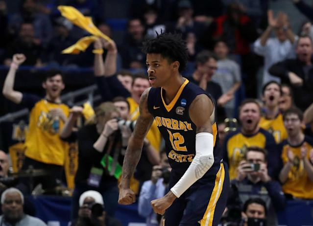 Ja Morant and Murray State starred on Day 1 of the 2019 NCAA tournament. And they're what March Madness is all about. (AP)