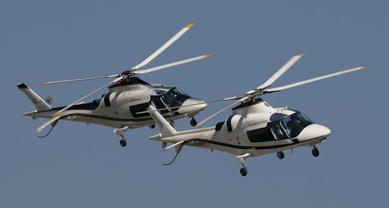 Two AgustaWestland A109s during an air show at Rand Airport, South Africa (NJR ZA)