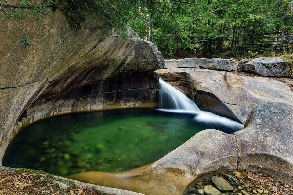 """<p>In the White Mountain National Forest, there are miles and miles of hiking trails found in <a href=""""https://www.tripadvisor.com/Attraction_Review-g46088-d105513-Reviews-Franconia_Notch_State_Park-Franconia_New_Hampshire.html"""" rel=""""nofollow noopener"""" target=""""_blank"""" data-ylk=""""slk:Franconia Notch State Park"""" class=""""link rapid-noclick-resp"""">Franconia Notch State Park</a>. Be sure to make your way through Flume Gorge, known for its granite boulders and cascading river.</p><p><br><a class=""""link rapid-noclick-resp"""" href=""""https://go.redirectingat.com?id=74968X1596630&url=https%3A%2F%2Fwww.tripadvisor.com%2FAttraction_Review-g46088-d105513-Reviews-Franconia_Notch_State_Park-Franconia_New_Hampshire.html&sref=https%3A%2F%2Fwww.countryliving.com%2Flife%2Ftravel%2Fg24487731%2Fbest-hikes-in-the-us%2F"""" rel=""""nofollow noopener"""" target=""""_blank"""" data-ylk=""""slk:PLAN YOUR HIKE"""">PLAN YOUR HIKE</a></p>"""