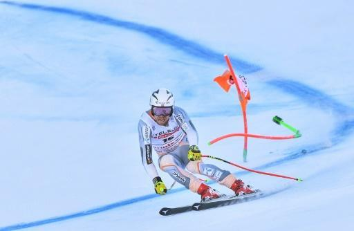 Norway's Aleksander Aamodt Kilde posted the top time in the super-G run of the Alpine combined in Bormio