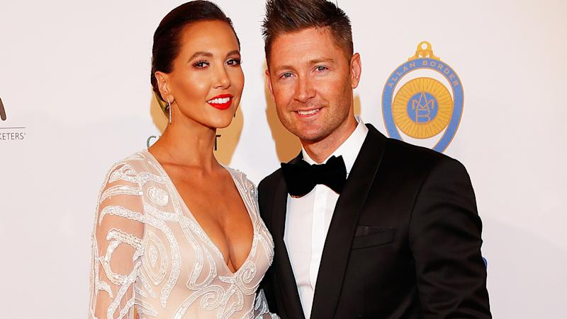 Kyly and Michael Clarke, pictured here at the 2016 Allan Border Medal ceremony.