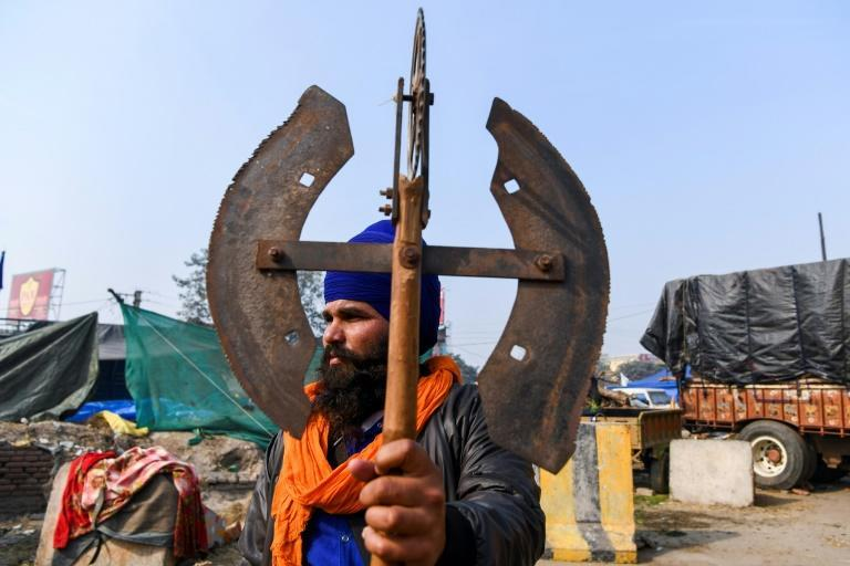 The Nihang are the self-appointed first line of defence in a showdown between farmers and Prime Minister Narendra Modi's government