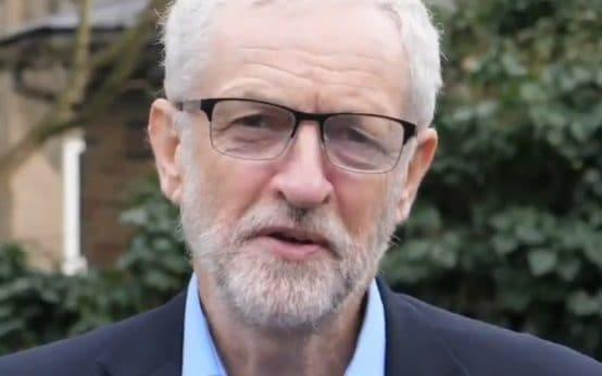 Jeremy Corbyn's latest spectacles, worn during his New Year's video message - Screen grab from Jeremy Corbyn's Twitter