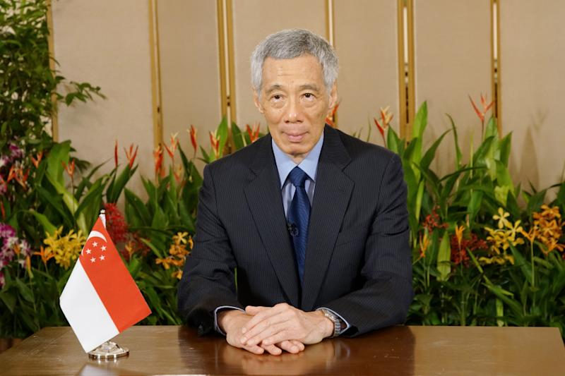 Prime Minister Lee Hsien Loong during his speech at the virtual Global Vaccine Summit. (PHOTO: Ministry of Communications and Information)