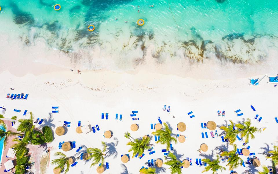 Long Bay, Antigua: the Caribbean island is among the options for a mystery break - Getty
