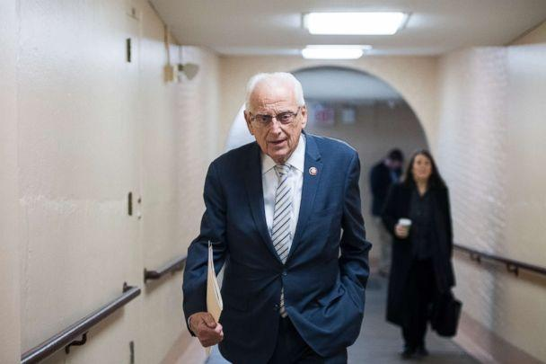 PHOTO: Rep. Bill Pascrell, D-N.J., leaves the House Democrats' caucus meeting in the Capitol, Jan. 4, 2019. (Bill Clark/CQ Roll Call/Getty Images)