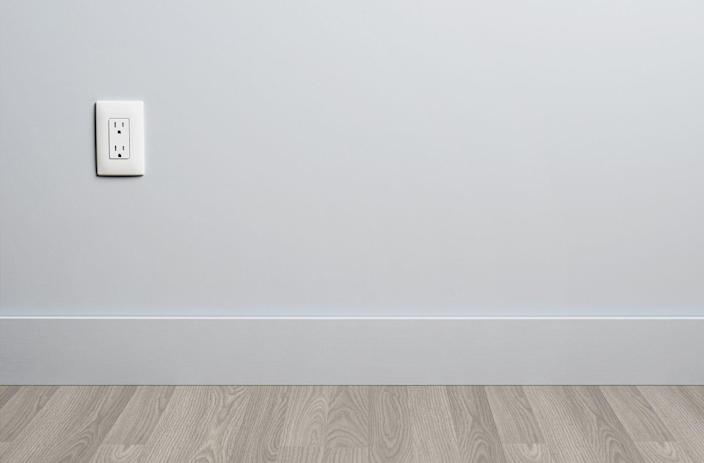 """<p>Don't neglect those baseboards! According to HGTV, you can <a href=""""https://www.hgtv.com/lifestyle/clean-and-organize/how-to-clean-baseboards"""" rel=""""nofollow noopener"""" target=""""_blank"""" data-ylk=""""slk:tackle dirty baseboards using the brush attachment"""" class=""""link rapid-noclick-resp"""">tackle dirty baseboards using the brush attachment </a>on your vacuum or a small whisk broom to remove dirt and dust from the surface. Be sure to clean the crevice between the bottom of the baseboard and the floor as well. </p><p>Once your baseboards are dusted, you'll want to tackle any food or dirt stains, particularly in your kitchen or mud room. Mix a bucket of warm water, liquid dish soap, and vinegar and use a melamine sponge or soft cloth to buff out stains. After, dry the baseboards with a clean towel.</p>"""