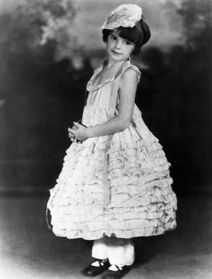 <p>After the family moved to California in 1926, Frances and her sisters appeared in stage and radio productions up and down the West Coast. Here, she's wearing a costume for her first Kiddie Revue in Los Angeles. </p>