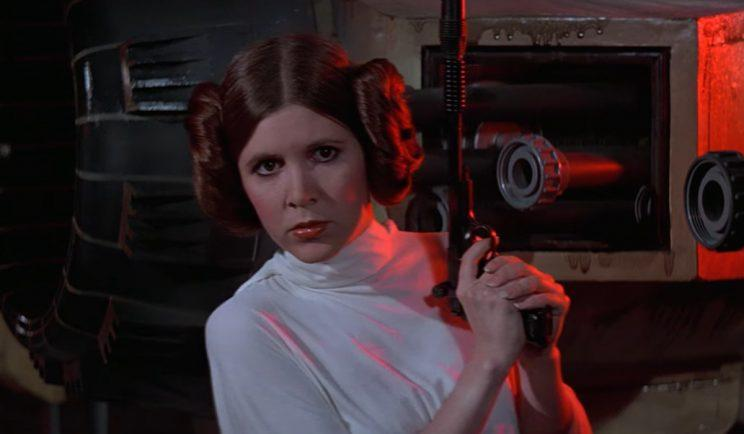 Carrie Fisher as the iconic Princess Leia - Credit: Lucasfilm
