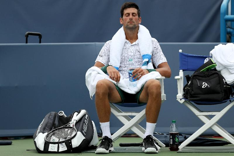 Novak Djokovic called for the doctor as he battled stomach issues in his second round match in Cincinnati