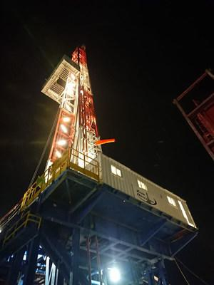 Zion Oil & Gas Drilling Rig in Israel. Photo was taken on January 3, 2021