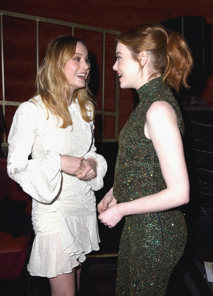 <p>Brie Larson and Emma Stone (Photo: Getty Images) </p>