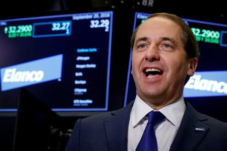 FILE PHOTO: Elanco Animal Health Inc. President and CEO Jeff Simmons, speaks during an interview  at the New York Stock Exchange (NYSE) in New York