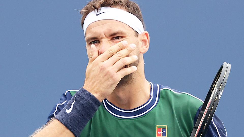 Grigor Dimitrov, pictured here during his loss to Alexei Popyrin at the US Open.