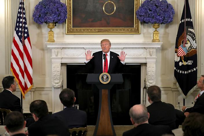 President Trump meets with U.S. governors at the White House on Monday. (Chip Somodevilla/Getty Images)