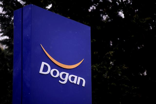 FILE PHOTO: The logo of Dogan Holding is pictured at its headquarters in Istanbul, Turkey, January 5, 2017. REUTERS/Yagiz Karahan TPX IMAGES OF THE DAY/File Photo