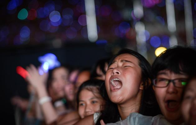 Fans screamed and cried their way through the four hour concert
