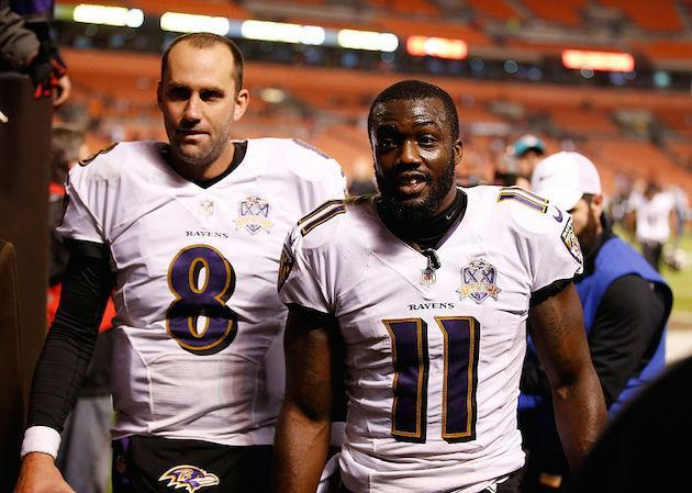 Believe it or not, Kamar Aiken may be Joe Flacco's most reliable weapon. (Getty)