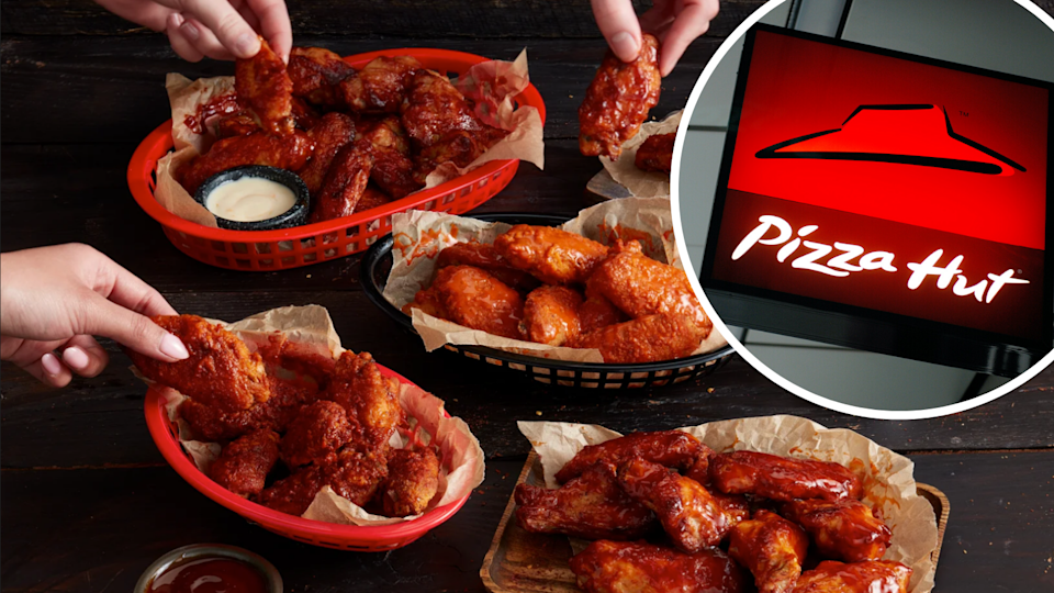 Snap up wings from Pizza Hut for $1 this week. (Source: Supplied/Getty)