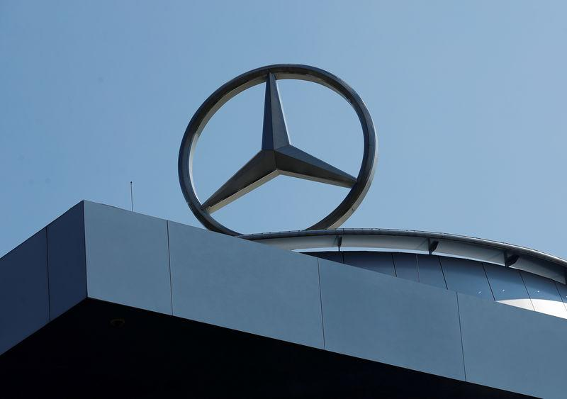 FILE PHOTO: A Mercedes Benz logo is pictured at a Mercedes Benz branch in Stuttgart