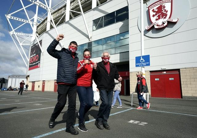 Middlesbrough supporters were pleased to be back at the Riverside Stadium
