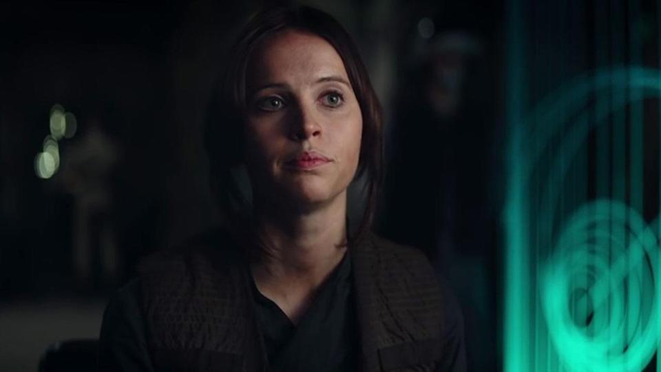 <p>This iconic line was one of the standout moments in the first teaser trailer but it didn't make it to the final cut. We suspect Jyn's introduction to the Rebels on Yavin 4 was one of the moments that was reshot. Credit: Lucasfilm/Disney </p>