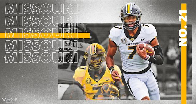 "After transferring from Clemson, <a class=""link rapid-noclick-resp"" href=""/ncaaf/players/252151/"" data-ylk=""slk:Kelly Bryant"">Kelly Bryant</a> is Missouri's starting quarterback in 2019."