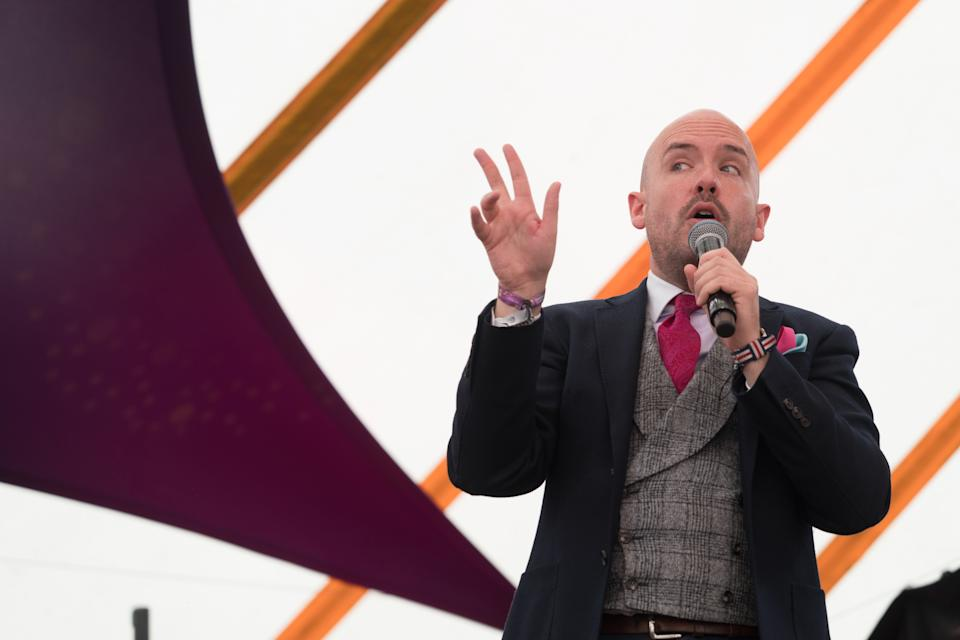 Tom Allen performing live on the comedy stage on Day 3 of the 2019 Latitude Festival in Suffolk, UK. Photo date: Sunday, July 21, 2019. Photo credit should read: Richard Gray/EMPICS Entertainment