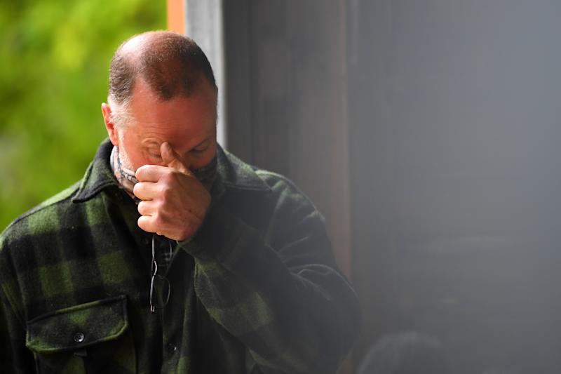 Shane Wall father of William Wall looks on during a press conference at the Warburton Police Station in the Yarra Ranges in Victoria on Wednesday, Source: AAP