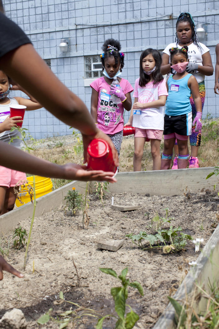 The Soil Sisters plan to teach their campers how to garden where they live, in the city. That means they might need to learn how to fortify the soil to make it hospitable to plans.  (Courtesy Sarah Warda)