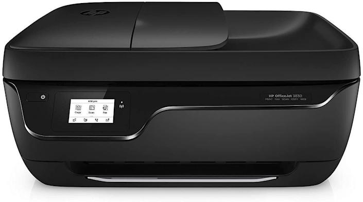 """<strong>Pages Per Minute: </strong>It doesn't say but this printer has an input of 60 sheets, an output of 25 sheets and the auto document feeder can handle 35 pages. <br><strong>Monochrome Vs. Color: </strong>It's a color inkjet printer so you can color away. <br><strong>Cartridge Details: </strong>While there aren't any specific suggestions, you can get automatic replacements with Amazon's Dash Replenishment.<br> <strong>What Else Can This Printer Do:</strong> This printer can scan, copy and fax. It works with Amazon's Alexa and has a touchscreen. Plus, you can opt for the optional quiet mode so the printer doesn't make weird noises at night. <br><strong> $$$: </strong><a href=""""https://amzn.to/3id7DzP"""" rel=""""nofollow noopener"""" target=""""_blank"""" data-ylk=""""slk:Find it for $80 at Amazon"""" class=""""link rapid-noclick-resp"""">Find it for $80 at Amazon</a>. Keep in mind it's on backorder until Aug. 31."""