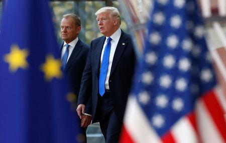 Trump to meet with anxious European Union and North Atlantic Treaty Organisation leaders