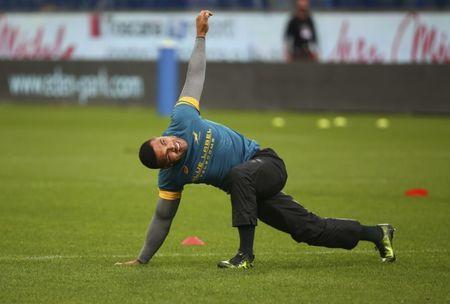 FILE PHOTO: Rugby Union - Rugby Test - Italy v South Africa - Artemio Franchi stadium, Florence, Italy - 19/11/16. South Africa's Bryan Habana warms up before the match against Italy. REUTERS/Alessandro Bianchi