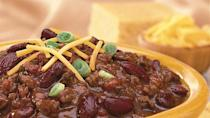 """<p>In just a couple of quick steps, you can have this chili recipe on your dinner table in minutes without having to put in too much effort.</p> <p><a href=""""https://www.thedailymeal.com/recipes/weeknight-chili?referrer=yahoo&category=beauty_food&include_utm=1&utm_medium=referral&utm_source=yahoo&utm_campaign=feed"""" rel=""""nofollow noopener"""" target=""""_blank"""" data-ylk=""""slk:For the Weeknight Chili recipe, click here"""" class=""""link rapid-noclick-resp"""">For the Weeknight Chili recipe, click here</a>.</p>"""