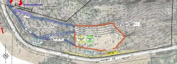 A blueprint of the Joe Rich quarry project drafted by Westbridge Rock Ventures.