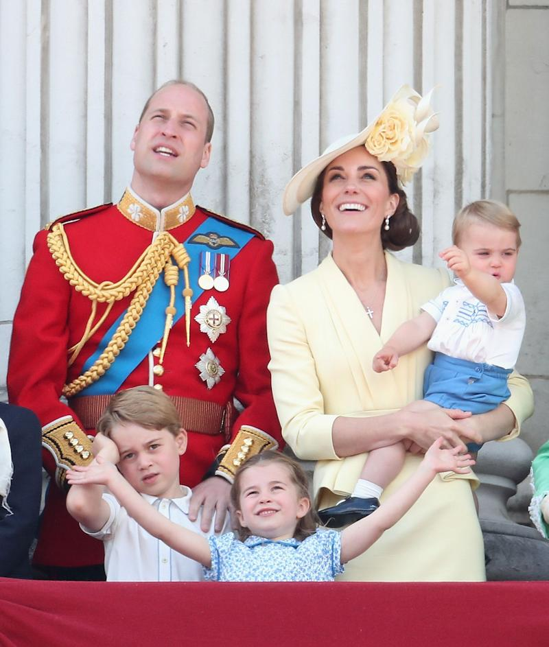 Prince William and Kate Middleton family on balcony
