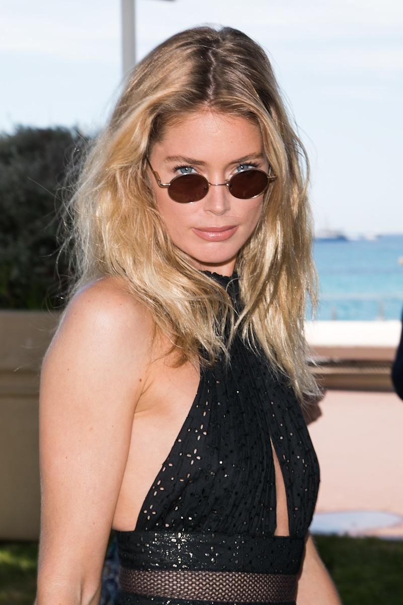 Model Doutzen Kroes is spotted wearing Matrix sunglasses with a gown during the 70th annual Cannes Film Festival at on May 23, 2017 in France. Photo courtesy of Getty Images.