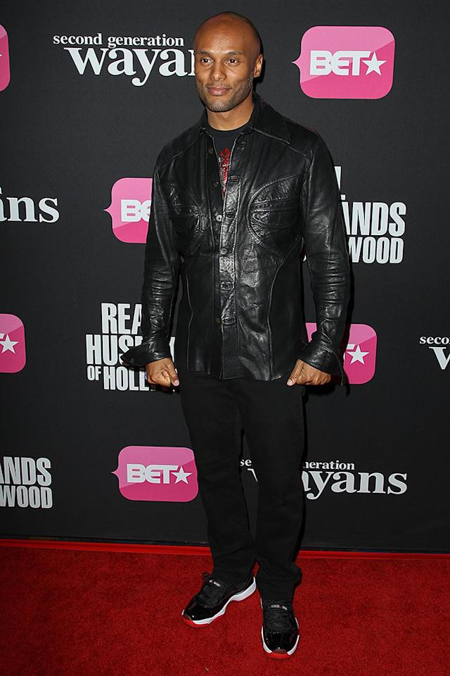 "Kenny Lattimore arrives at the screenings of BET Networks' ""Real Husbands of Hollywood"" and ""Second Generation Wayans"" held at the Regal Cinemas L.A. Live on January 8, 2013 in Los Angeles, California."