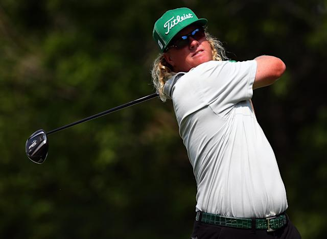 IRVING, TX - MAY 16: Charley Hoffman hits a shot during the first round of the 2013 HP Byron Nelson Championship at the TPC Four Seasons Resort on May 16, 2013 in Irving, Texas. (Photo by Tom Pennington/Getty Images)