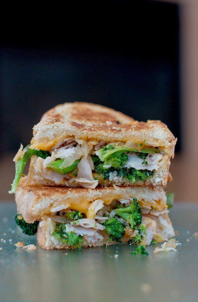 """<strong>Get the <a href=""""http://bsinthekitchen.com/broccoli-cheddar-soup-grilled-cheese/"""">Broccoli & Cheddar Soup Grilled Cheese recipe from BS In The Kitchen</a></strong>"""