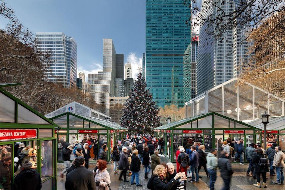 "<p>Looking to get some holiday shopping done, all while sipping on a cup of hot apple cider? Spend your day at the open-air holiday market at the <a href=""https://bryantpark.org/amenities/bank-of-america-winter-village-at-bryant-park"" rel=""nofollow noopener"" target=""_blank"" data-ylk=""slk:Bank of America Winter Village at Bryant Park"" class=""link rapid-noclick-resp"">Bank of America Winter Village at Bryant Park</a> (open 11 a.m. to 8 p.m.), where you'll definitely feel the holiday spirit while shopping for artisanal gifts and indulging in tasty, festive bites. </p><p><strong>RELATED: </strong> <a href=""https://www.goodhousekeeping.com/holidays/gift-ideas/g29417662/unique-christmas-gifts/"" rel=""nofollow noopener"" target=""_blank"" data-ylk=""slk:30 Unique Christmas Gifts to Pleasantly Surprise Your Family and Friends This Holiday"" class=""link rapid-noclick-resp"">30 Unique Christmas Gifts to Pleasantly Surprise Your Family and Friends This Holiday</a></p>"