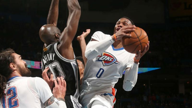 Nba Westbrook Sees Thunder Past Spurs Cavs Lose Again